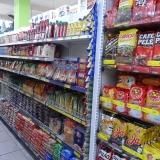 prateleira de supermercado